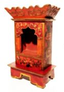 Luxurious Buddhist Wooden Altar with Drawer